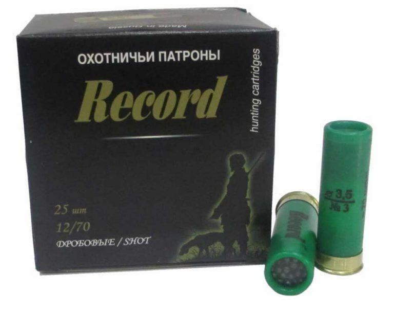 Патрон Record 12/70 дробь